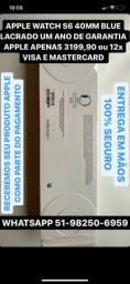 MUNDICELL APPLE WATCH S6 40MM LACRADO ORIGINAL UM ANO DE GARANTIA APPLE
