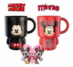 Kit caneca Minnie e Mickey Disney