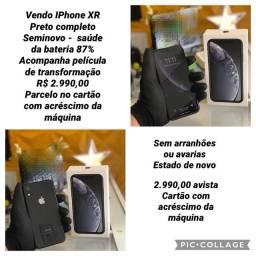 iPhone XR seminovo zerado bateria 87%