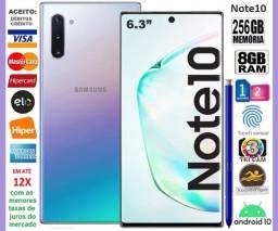 "Galaxy Note 10 8Core, 256GB, 8GB Ram, Tela de 6.3"", 3Câm, Novíss, Caixa, NF, Gar, Troco"