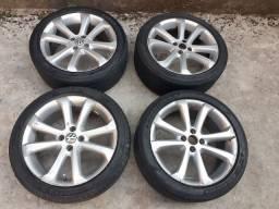 Rodas aro 17 com pneus meia vida