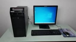 Computador Lenovo Intel Quad Core Q8400- 4gb- Hd 500- Wifi- Lcd 17/ac. Cartão /pix
