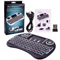 Mini teclado sem fio para tv box, SMARTv, pc...