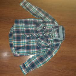 Camisa xadrez infantil tamanho pouco uso