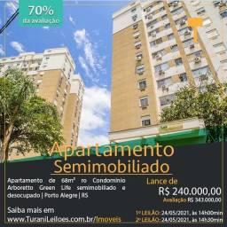Apartamento de 68m² no Condomínio Arboretto Green Life - Semimobiliado - Porto Alegre/RS