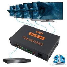 Splitter Distribuidor Hdmi 1×4 Divisor Full Hd 1.4 3d 1080p