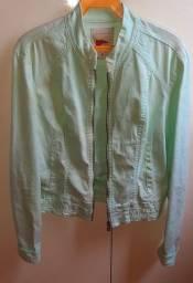 Jaqueta verde em algodão