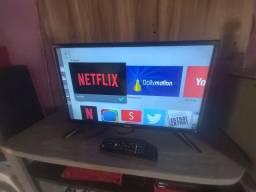 Smart tv 24  semi nova vendo ou troco