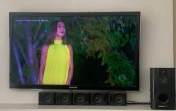 TV com chromecast e Home Theater