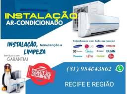 Ar-condicionado. Conserto, manutenção e instalação