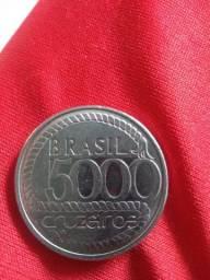 Antiga - Moeda Comemorativa 5000 Cruzeiros - Tiradentes !!!