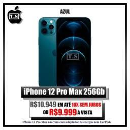 Iphone 12 pro max 256gb, azul e dourado! Lacrados.