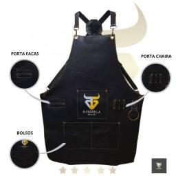 Avental RG & Parrilla Preto Couro