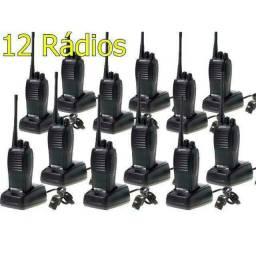 Kit 12 Radios Comunicadores Baofeng Walk Talk Baofeng 777s