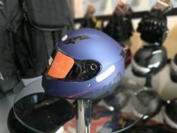Capacete X11 lançamento Solid Azul - 100% NOVO