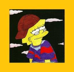 Quadro lisa Simpson