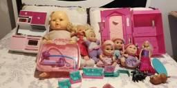 Lote de brinquedos de menina