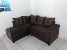Sofá marrom café sofá de canto