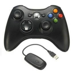 Controle de Xbox 360 sem fio com adaptador wireless
