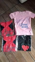 Camisetas evangélicas feminina lote