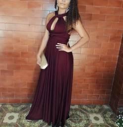 Vestido multiformas cor marsala
