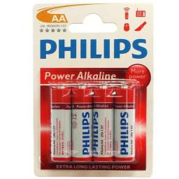 Pilha Alcalina AA Philips LR6P4B/97 cartela com 4 unidades