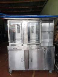 Maquina de churrasco grego dupla shawarma do litoral