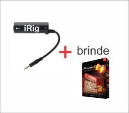 Irig Interface Áudio iPad iPhone Live Stream Violão + Amplitube 4.9.1 Completo
