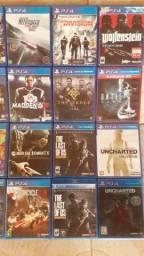 Jogos Ps4+Horizon+DaysGone+GW2+MK+NFS+Division+FF+Util D+ACreed+Uncharted+Destiny+Pes+Fifa