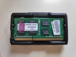 Memória Ram 4gb Ddr3 Notebook - Kvr1333d3s9/4g