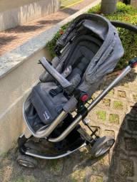 Carrinho + bebe conforto mobi travel 1st Safety Cinza