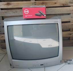 TV tubo 20 polegadas + conversor e gravador digital k900