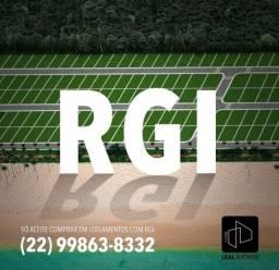 Terrenos financiados com RGI em bairro planejado