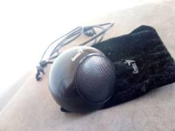 Mini caixa de som Genius SP-i170, - Design elegante na cor preto