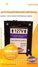 Transformador Bivolt 5000va Até 12.000btus - Entrega Gratis