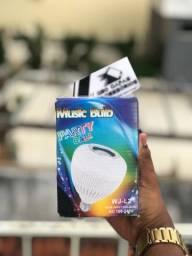 Lampada músical Led 12w Caixa Som Bluetooth 2 Em 1 Mp3 Music Bulb