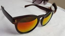 Óculos de Sol Feminino lente dourada estilosa