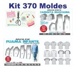 Kit 370 Moldes Modelagem Fem Masc Infantil