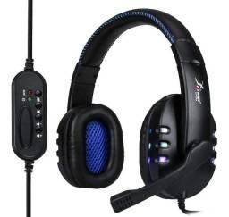Fone De Ouvido Gamer Knup Kp-359 Com Conexão Usb E Controle