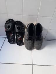 Sapato e óculos esportivo