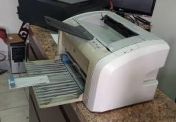 Impressora Laser Hp 1020 revisada com um toner novo