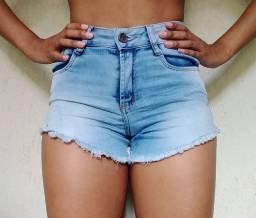 Shorts Jeans Curto- Cintura Média - Tam 38