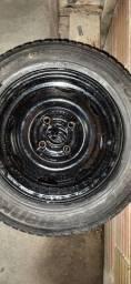 Roda aro 13 com pneu