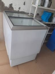 Freezer/ geladeira - 236 litros - sem gás - falta uma tampa de vidro