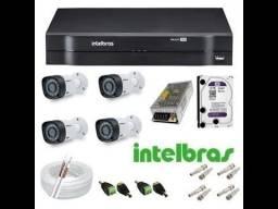 Câmeras dE Segurança cftv intelbras kit 4CH