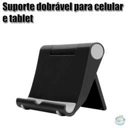 Suporte dobrável de plástico de mesa para celular e tablet