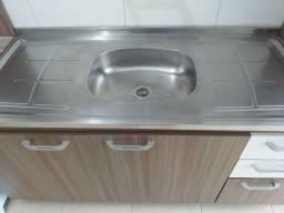 Cozinha compacta MDP com pia inox