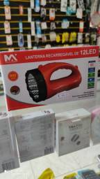 Lanterna LED recarregável 900 mAh nova na caixa