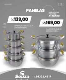 JOGO DE PANELAS 139,GANHA CARTEIRA