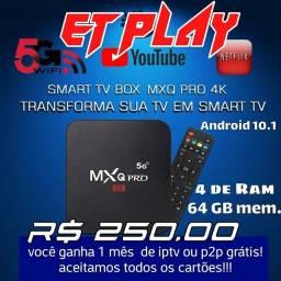Android 10.1 TV Box MXQ Pro 4K 5G - 4GB/64GB<br><br>